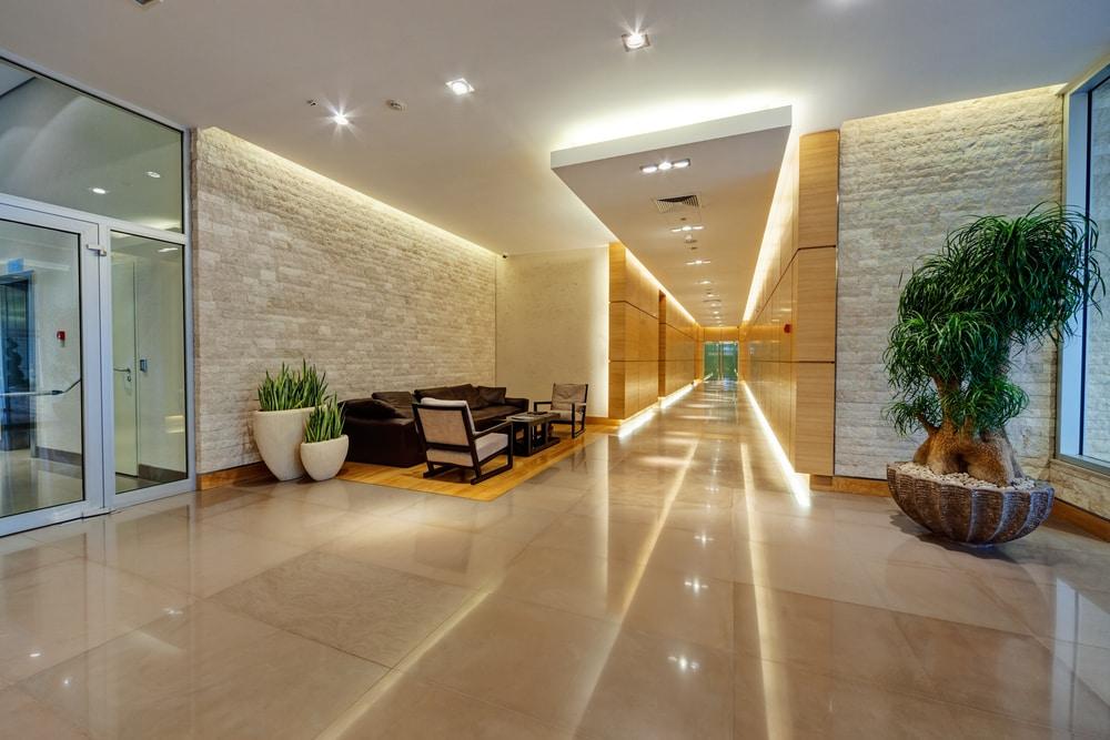 modern building corridor
