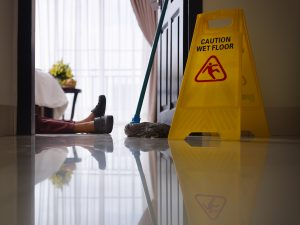 commercial cleaning services cost employee injury falling fell on floor avoid injuries