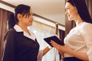 Janitorial companies lack in communication image of janitor maid cleaning lady with business lady